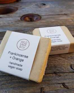 wild sage & co frankincense and orange soap