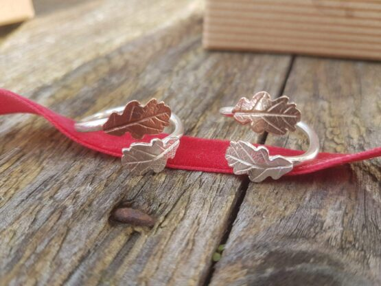 oak leaf wrap rings
