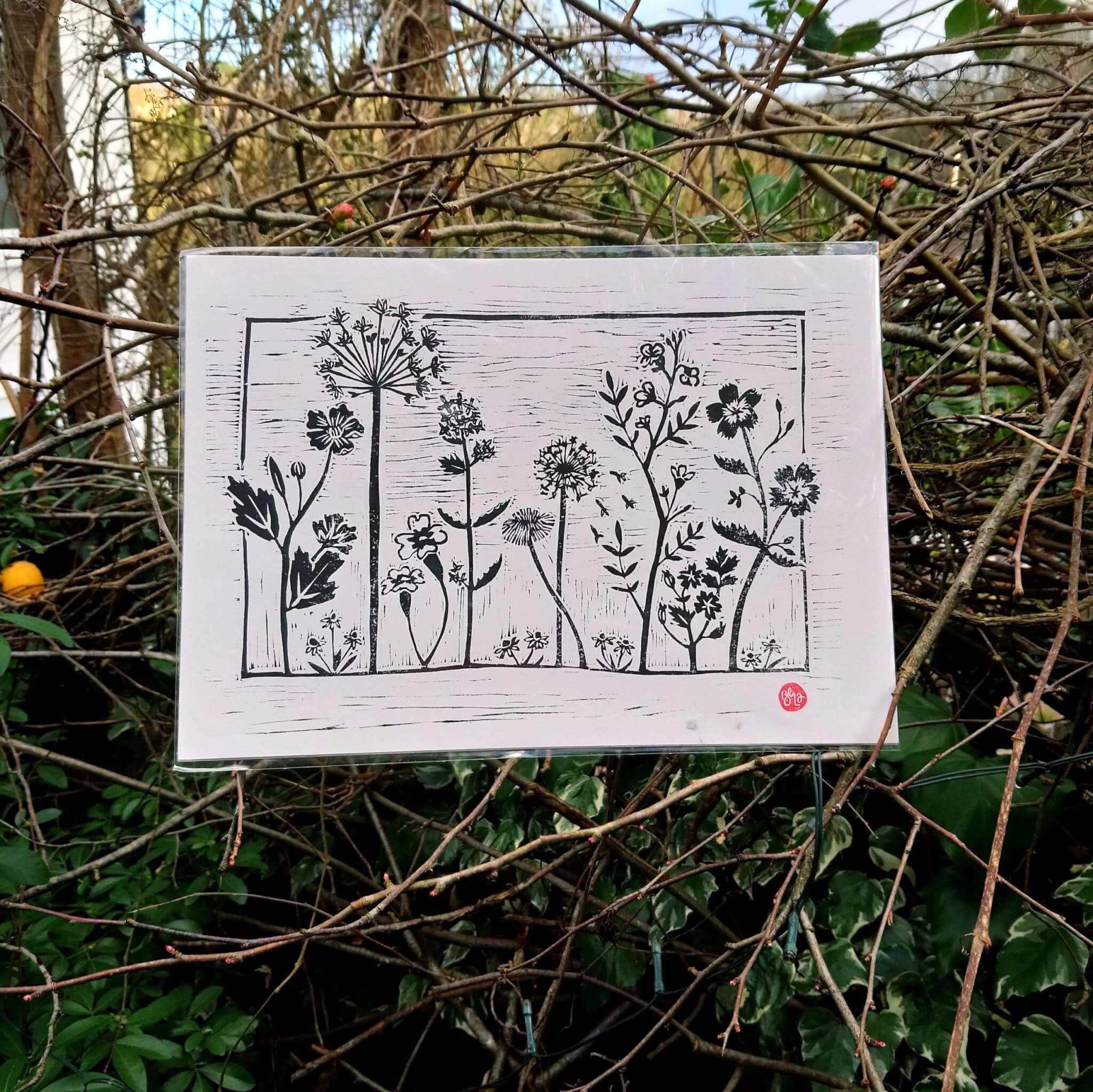wildflower meadow print
