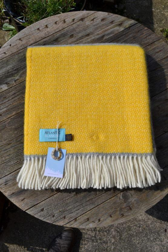 Atlantic Blankets Yellow Windmill Stripe Throw
