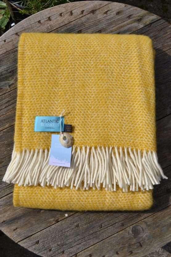 Atlantic Blankets Buttercup Yellow Honeycomb