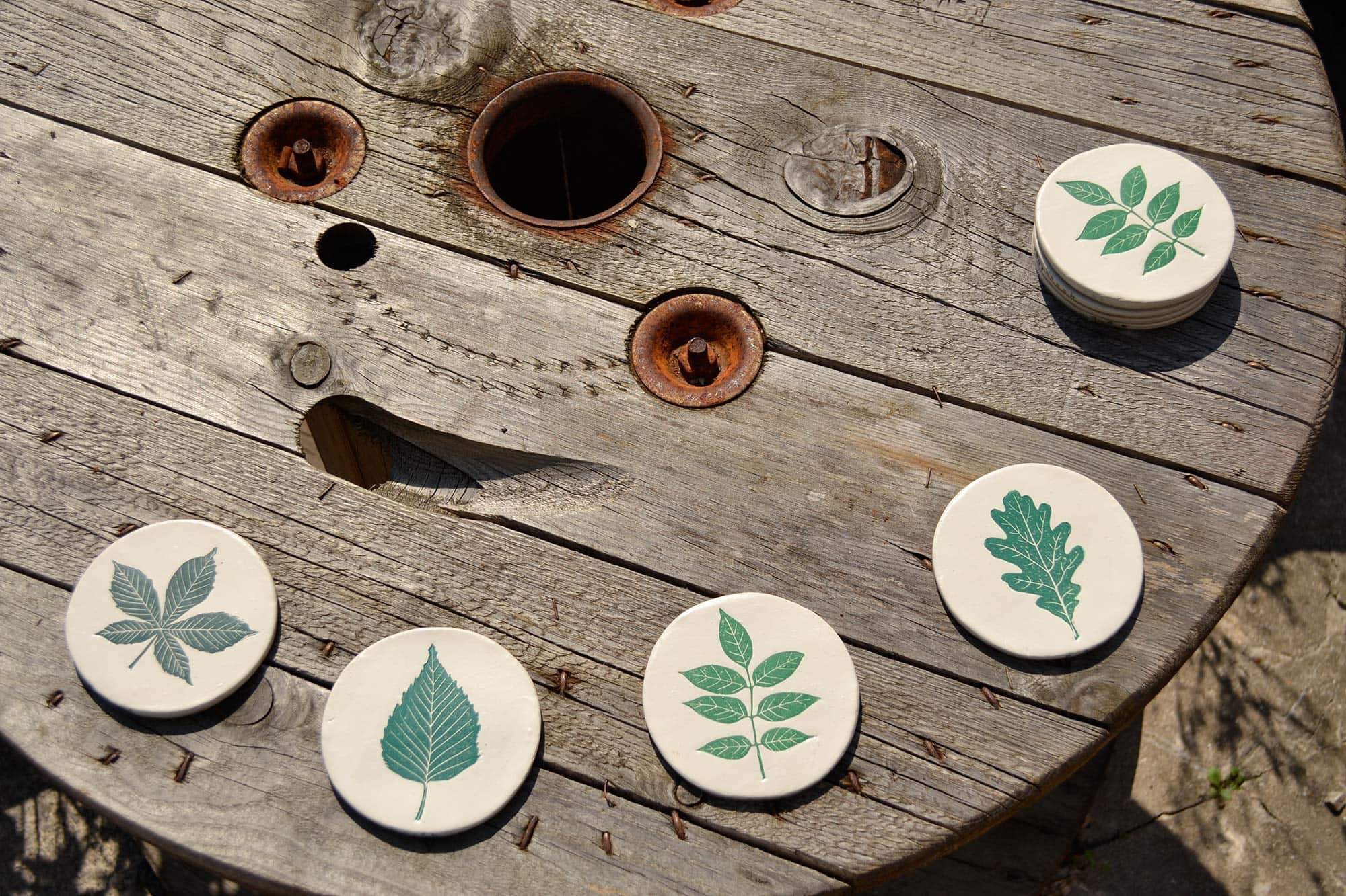 CBK Spring Green Ceramic Coasters