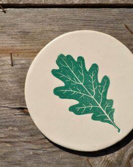 CBK Spring Green Oak Leaf Coaster