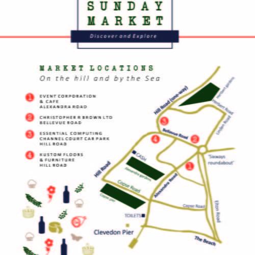 Clevedon Market Map