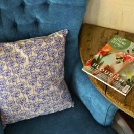 Megan Alice England Cornflower Cushion