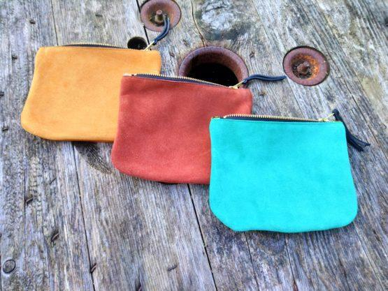 rose choules suede and leather purses