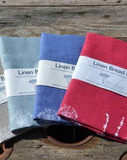 Helen Round linen bread bags group shot