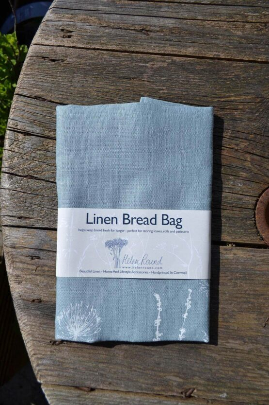 hollyhock bread bag close up