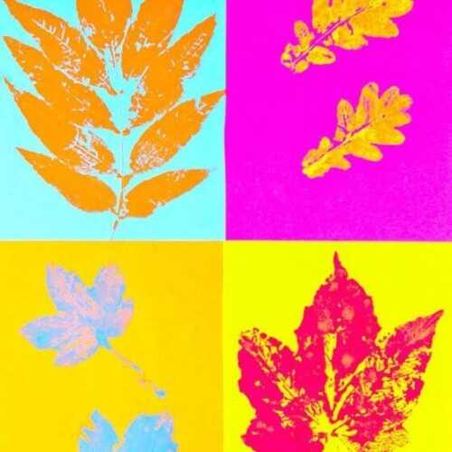 Pop Art Leaf Printing