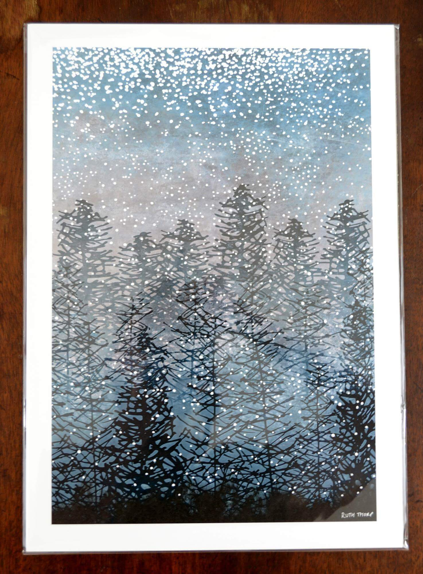 Ruth Thorp A3 Winter Forest print