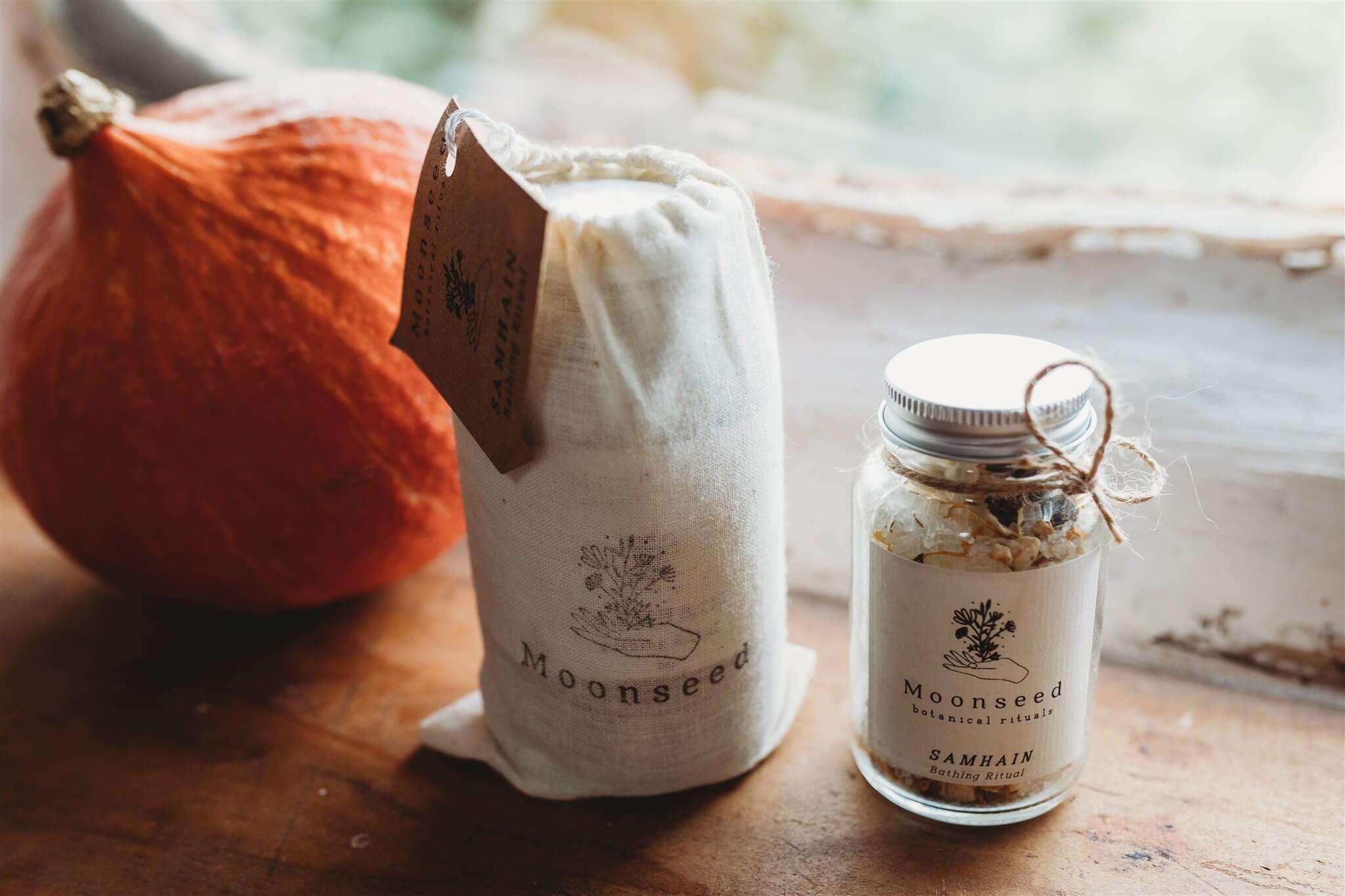 samhain bath salts packaging