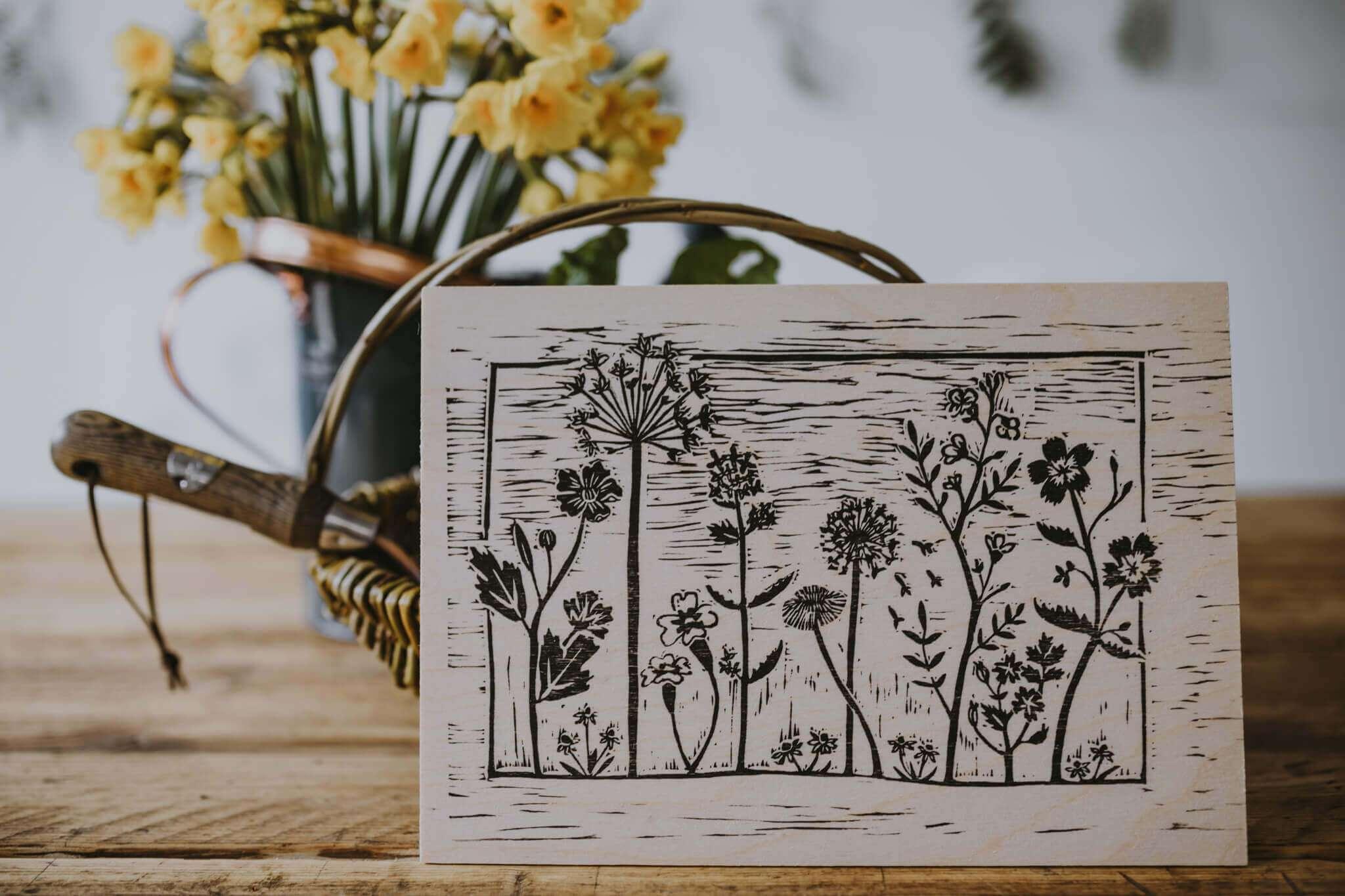 wooden wildflower print_noprice