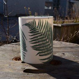 Green fern lampshade