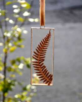 Long rectangle autumn fern frame