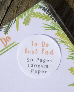Fern To-Do List Notepad closeup