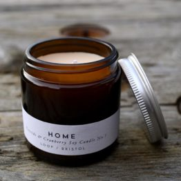 home cranberry soy candle