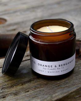 Fig, Orange & Bergamot soy candle
