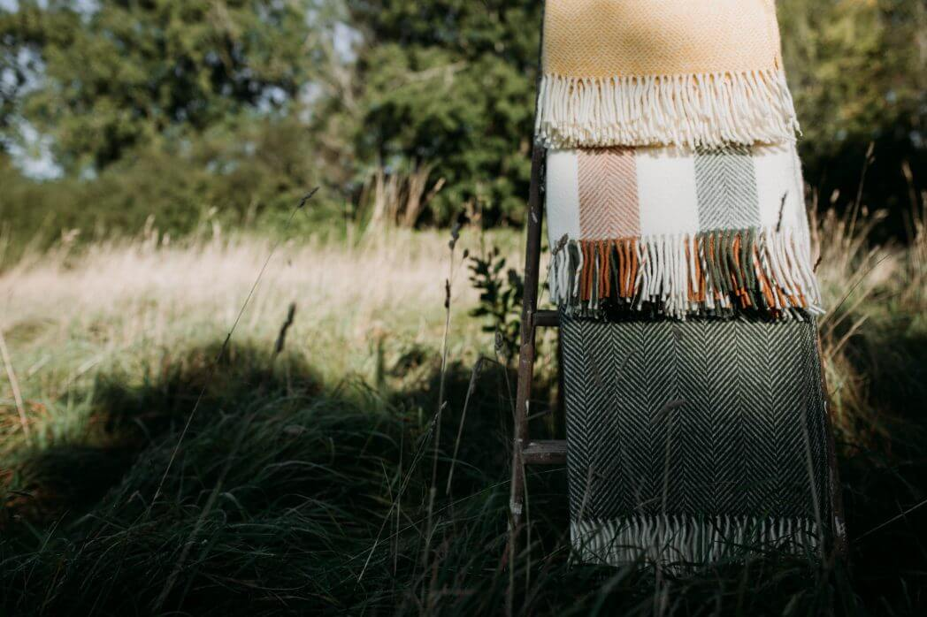 yellow olive woodland blankets group
