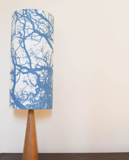 Light Blue Trees Silhouette Lampshade