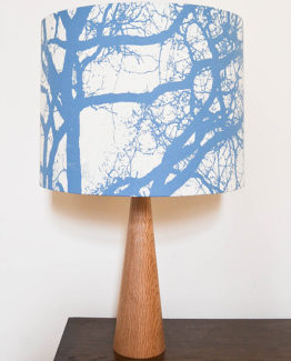 Light Blue Tree Silhouette Lampshade