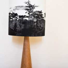 Trees & Mountains Silhouette Lampshade