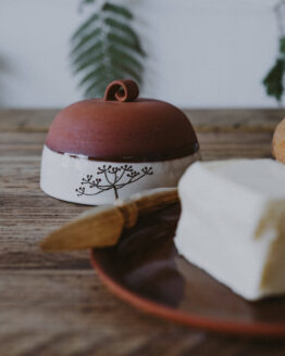 Earthenware butter dish