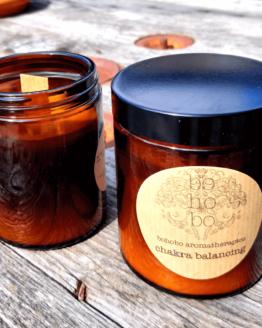 chakra balancing candle by bohobo aromatherapies