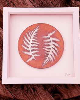 dual fern enamel art