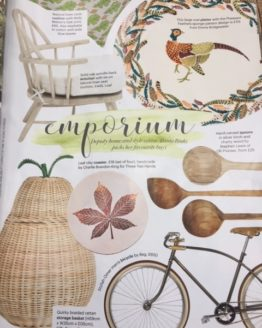 autumn leaf coasters in country living mag