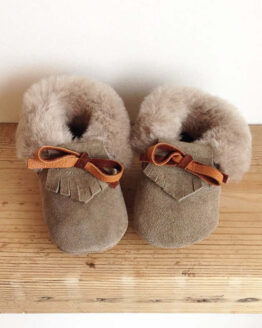 Rose Choules Baby Moccasin Pebble