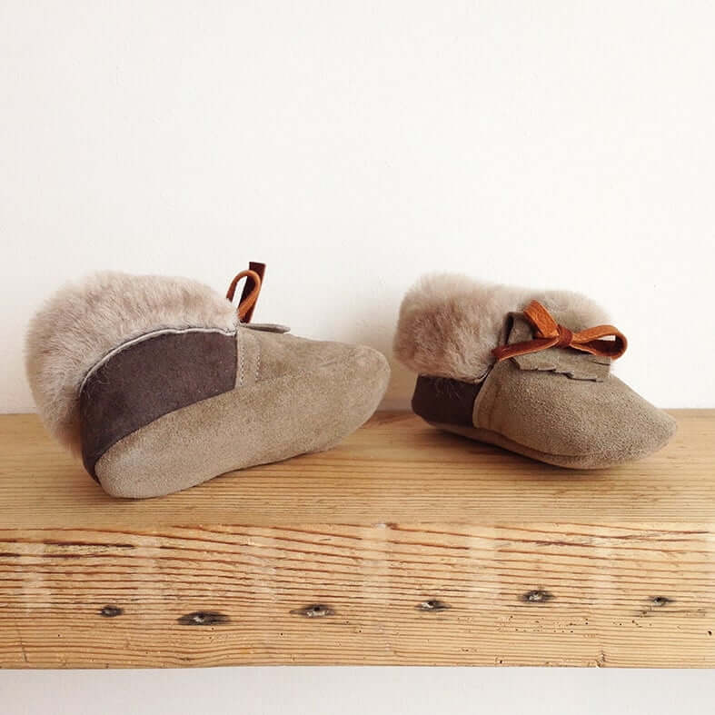 Rose Choules Baby Moccasin Pebble Sole