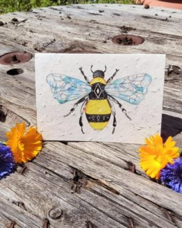 bee design seed card