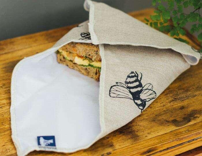 bee sandwich wrap open