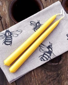 beeswax candle pair