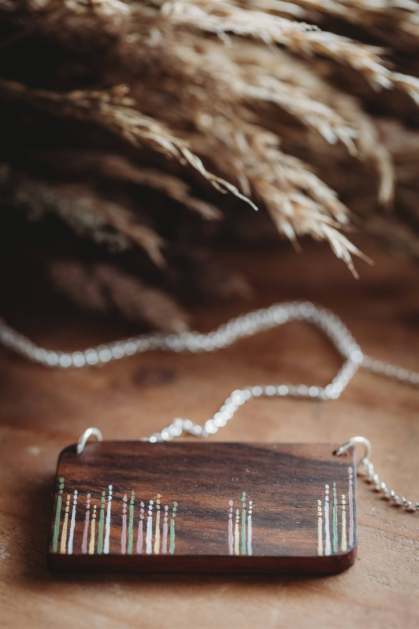 Wooden Meadow Design Statement Necklace main