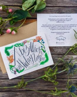 birthday wildflower seed card