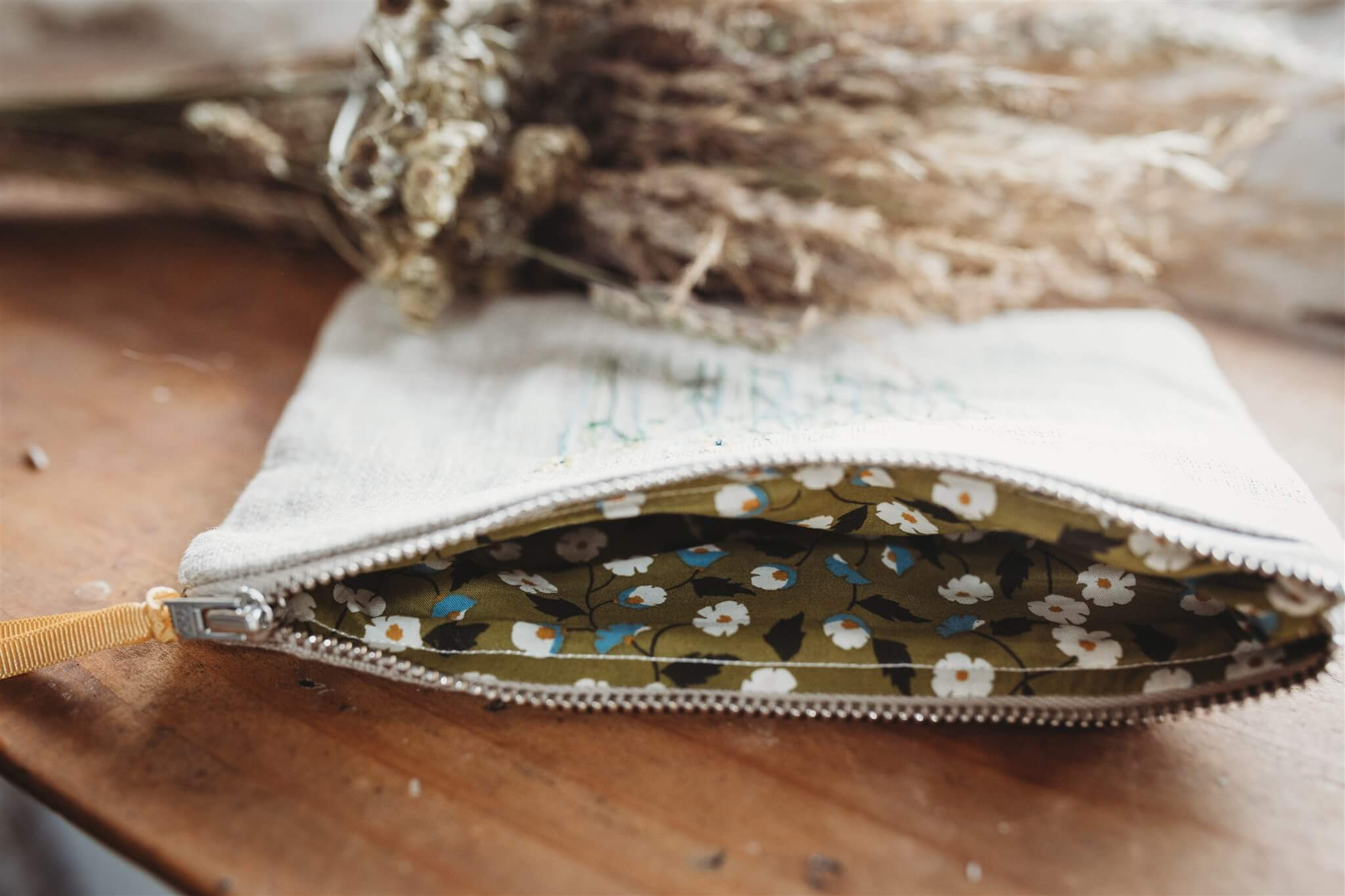 buttercup meadow pouch lining