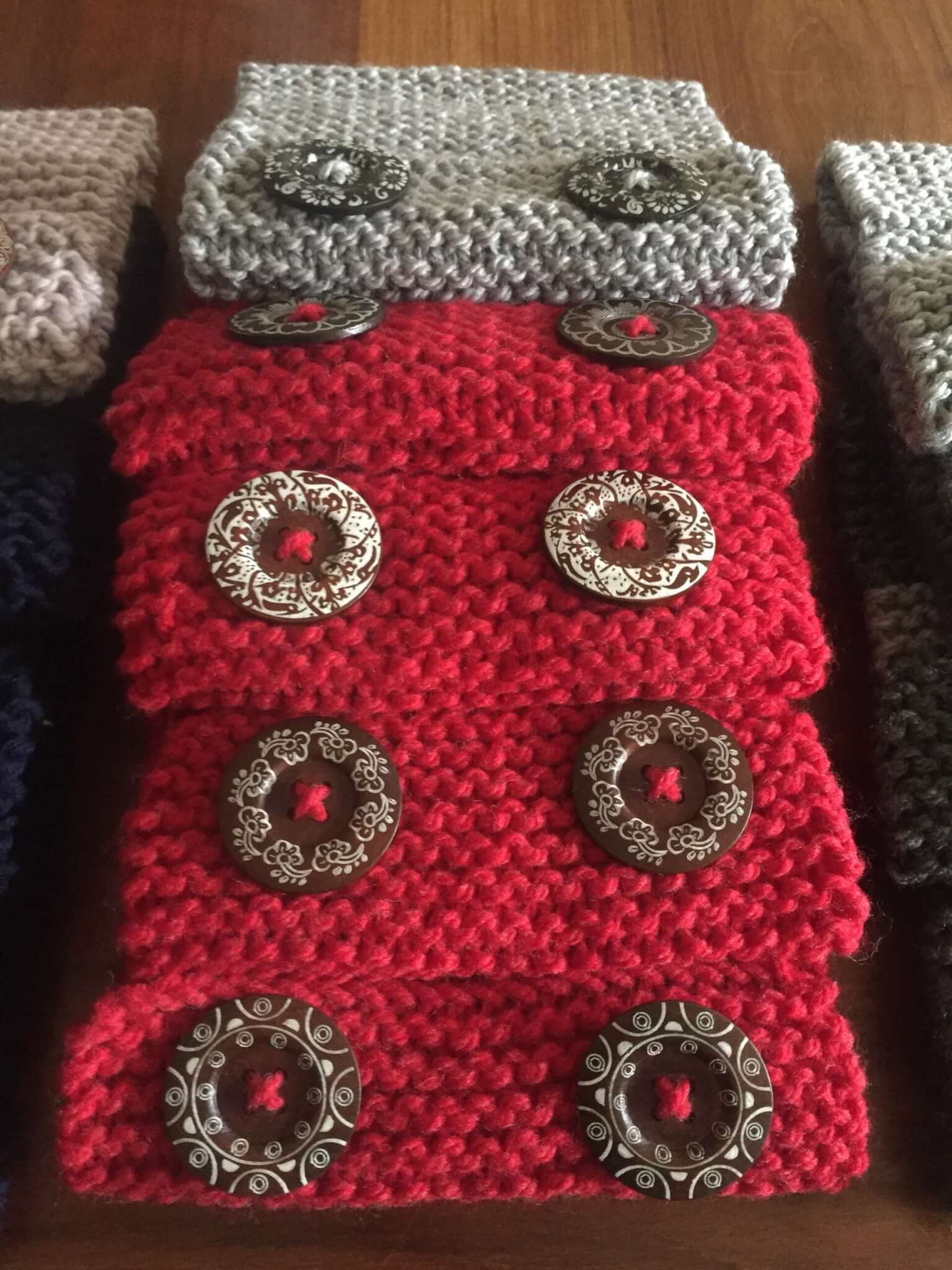 cowls close up bright red