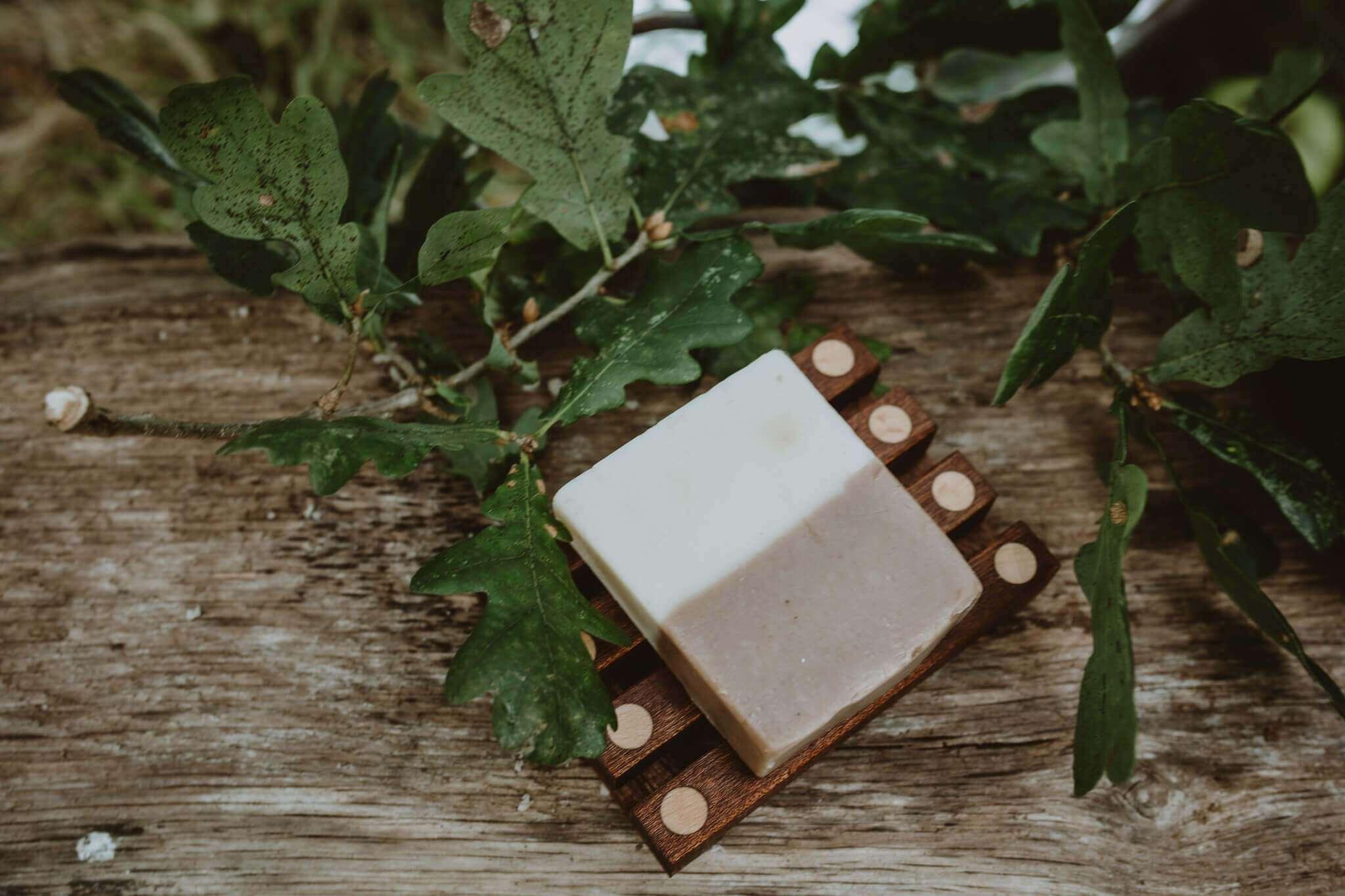 dark wood soap dish main