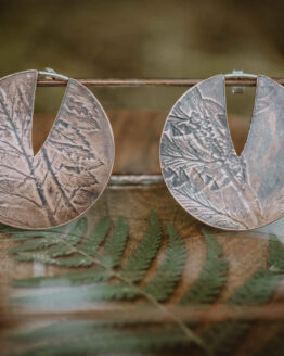 fern small circle earrings