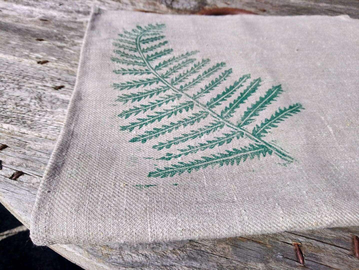 fern tea towel