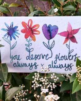 flowers always seed card