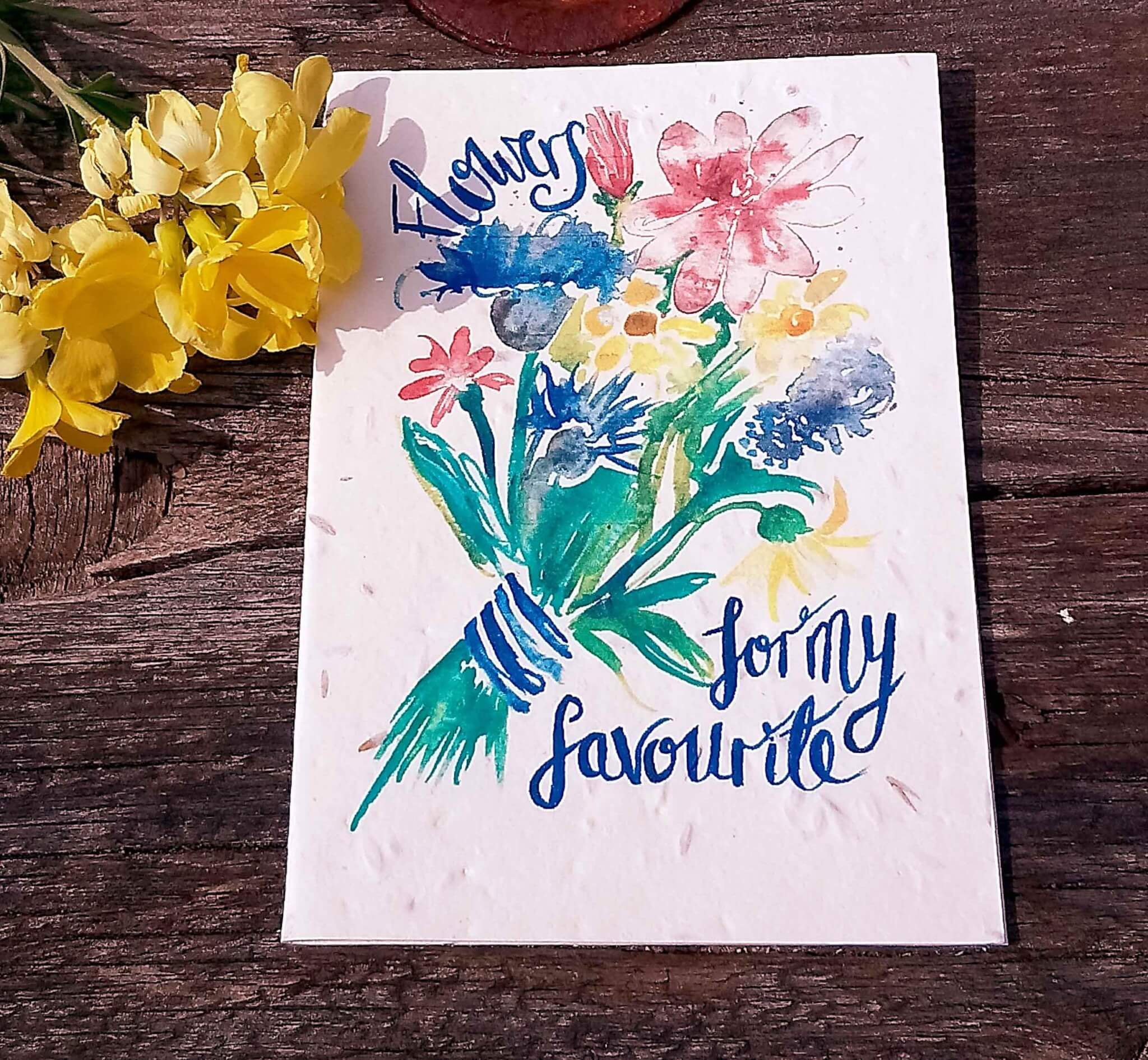 flowers for my favourite seed card