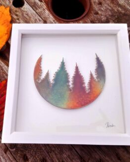 forest copper enamel print