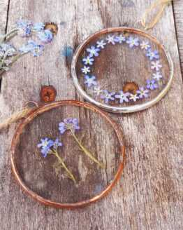 forget me not circle frames