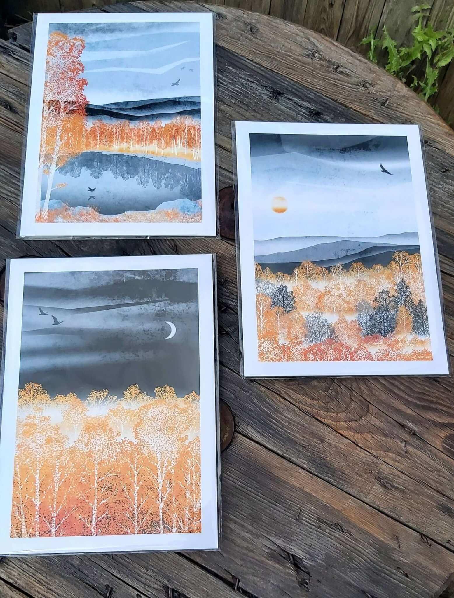 golden forest prints