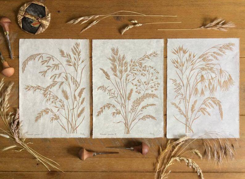 grasses gold trio