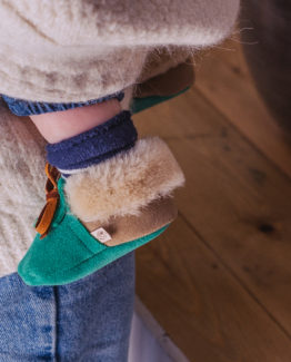 sea green baby moccasins