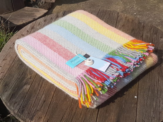ice cream stripe throw