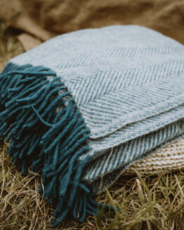 inky blue wool blanket